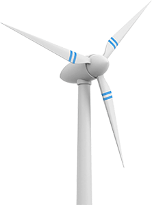 Aviation obstruction system wind turbine