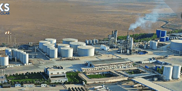 Luxsolar Exproof Aicraft Warning Lights System On The Chimneys Of Lanaz Refinery